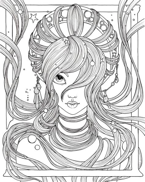 winged things a grayscale coloring book for adults featuring fairies dragons and pegasus books coloriage adulte princesses visage de princesse 5
