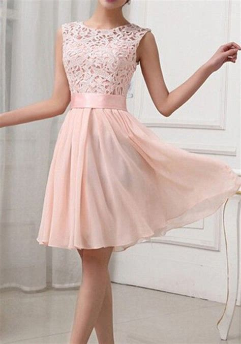 Light Pink Dresses by Collar Sleeveless S Club Dress