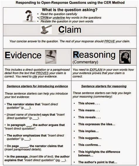 research paper sentence starters 6th grade practice performance tasks cer sentence