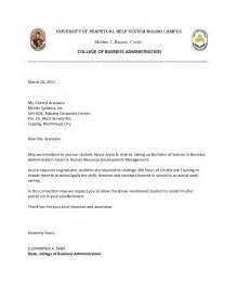 Certification Letter For Ojt Ojt Endorsement Letter