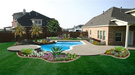 pool landscaping triyae com small backyard landscaping ideas with above