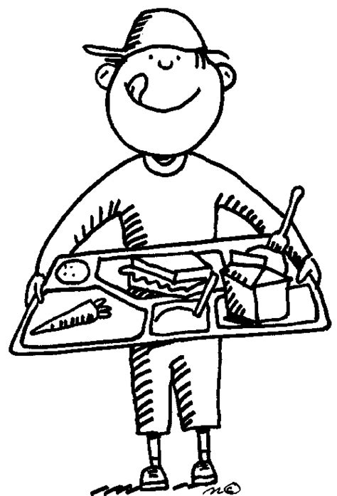 school lunch coloring page lunch room coloring page back to school children s