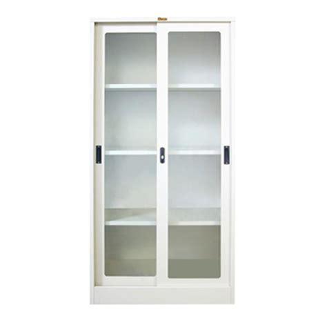 Lemari Kaca Krisbow jual lemari arsip pintu sliding kaca type l 33ak harga