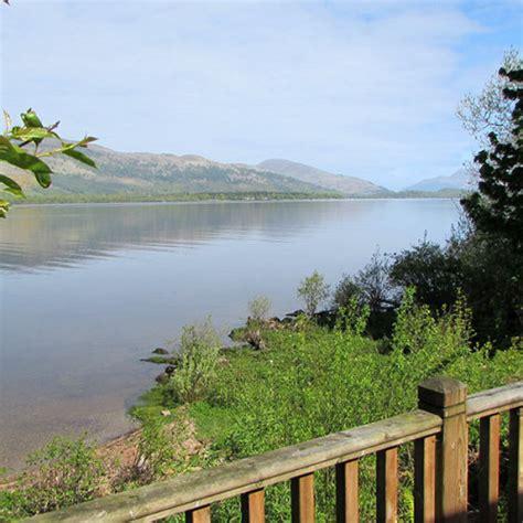 Balmaha Log Cabins by Loch Lomond Lochside Cabin Inchmurrin Island With Open