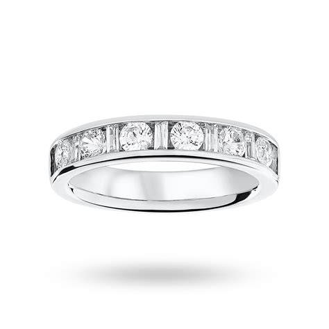 9 carat white gold 1 00 carat dot dash half eternity ring