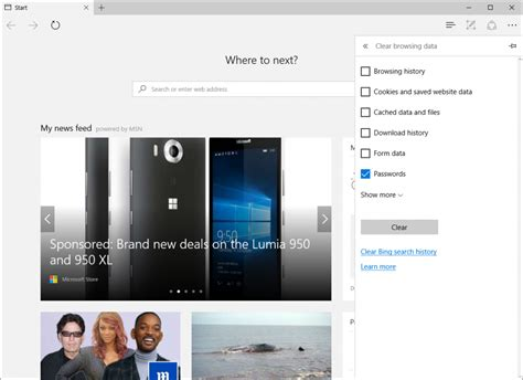 edge a clear headed history books windows 10 manage your passwords in microsoft edge