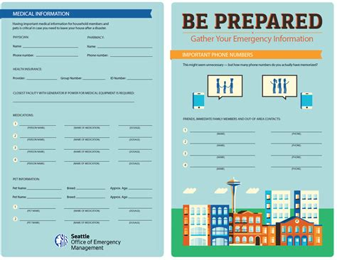family emergency plan template prepare your family emergency management seattle gov