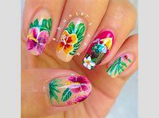 Tropical drink nail art by Tara Huff - Nailpolis: Museum ... Zoya Tara