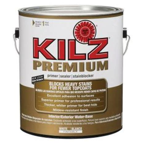 home depot paint no primer kilz premium 1 gal white primer 182408 the home depot