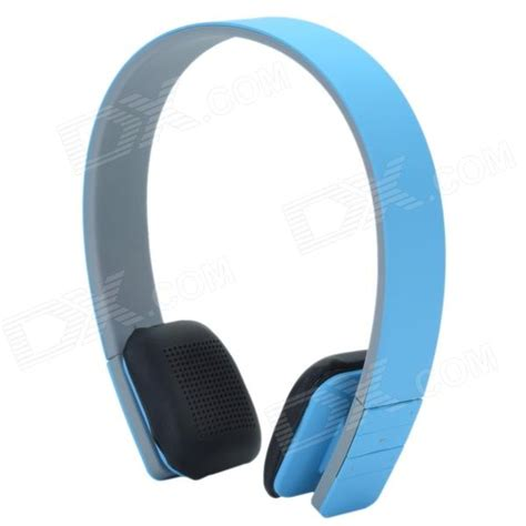 Headset Blue bluetooth v3 0 edr stereo headset headphones blue grey black free shipping dealextreme