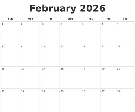 free printable monthly calendar creator july 2026 calendar maker