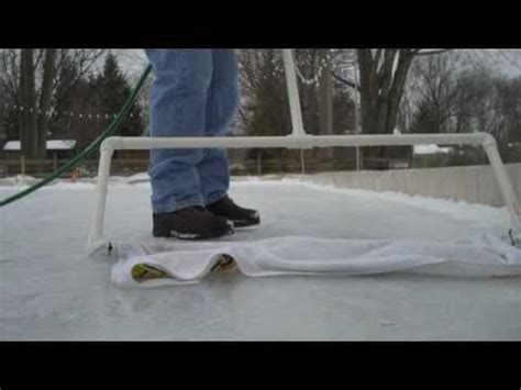backyard rink zamboni backyard ice skating rink zamboni 2010 youtube
