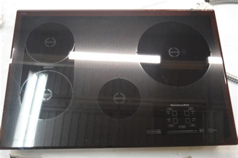 kitchen aid induction cooktop kitchenaid kicu509xbl 30 quot black electric induction cooktop