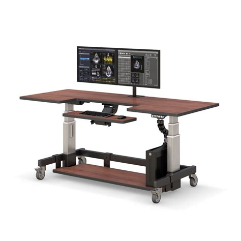 Adjustable Height Computer Desk Workstation Adjustable Height Rolling Computer Desk Afcindustries