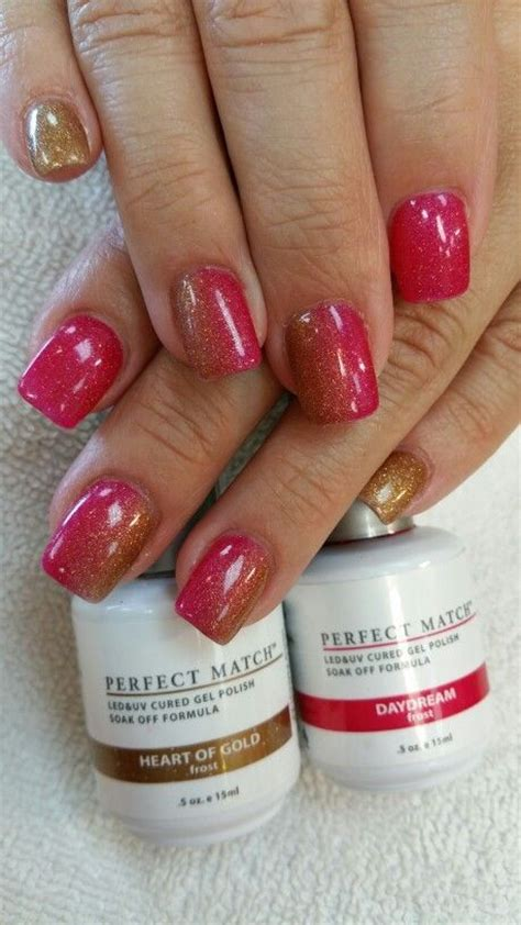 perfect match colors lechat perfect match gel polish heart of gold and