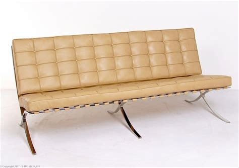 mies sofa barcelona sofa neutral tan leather mies van der rohe