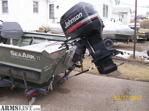 seaark boats for sale in iowa armslist for sale seaark 1872 boat motor trailer