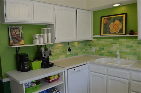 green kitchen tile backsplash white kitchen green backsplash home design ideas