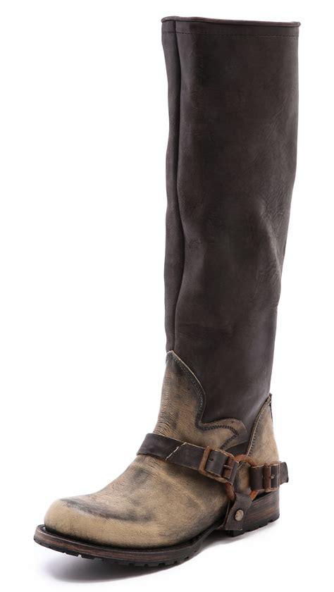 free bird boots freebird by steven zip back moto boots in gray
