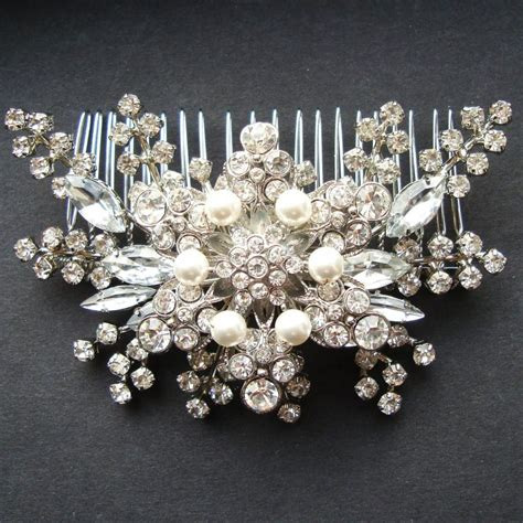 Vintage Style Wedding Hair Accessories by Pearl Rhinestone Bridal Hair Accessories Vintage Style