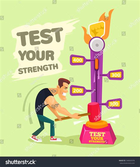 test your test your strength vector flat illustration stock vector