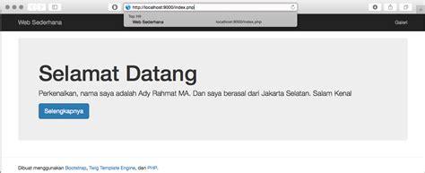 membuat web sederhana php membuat web sederhana menggunakan php twig template