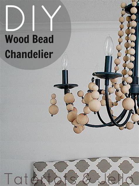 diy wooden bead chandelier diy wood bead chandelier jpg