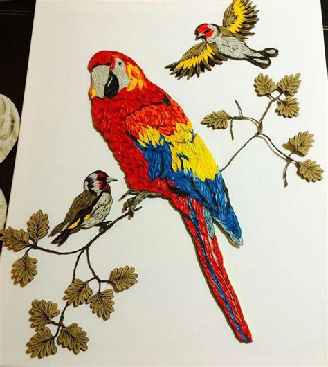procedure quilling parrot branka mileti all about parrot and friends on a branch quilling pinterest