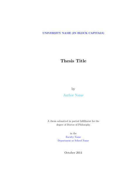 dissertation front cover template graduate thesis template sharelatex