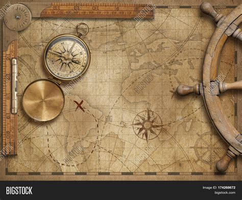 the explorer map template powerpoint template explorer nautical world map
