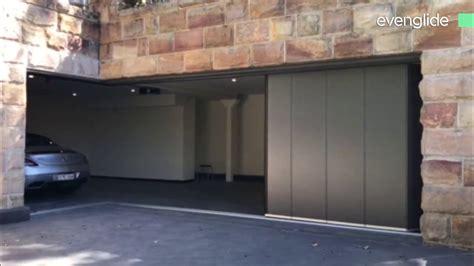 side sectional garage door evenglide side sliding sectional garage door youtube