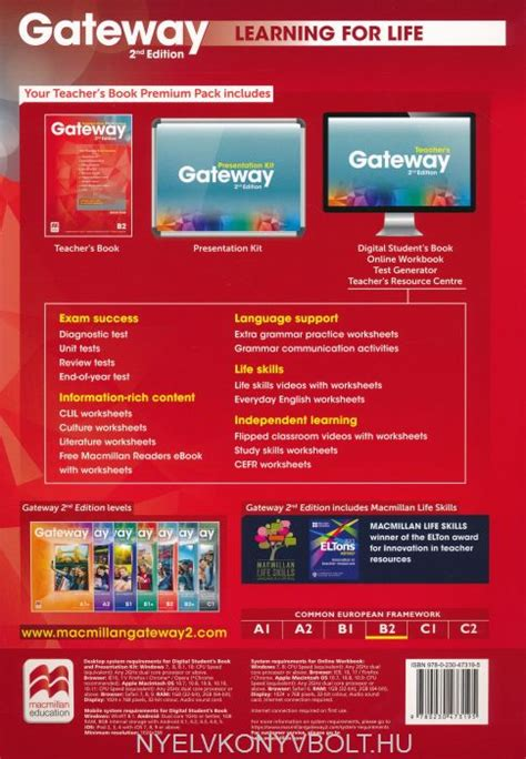 gateway b2 teachers book 0230417655 gateway 2nd edition b2 teacher s book pack nyelvk 246 nyv