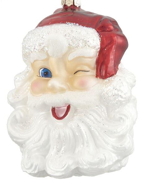 Winking Santa   Personalized Ornament