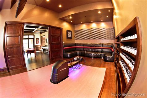 Living Room Lanes Bowling Set by La Lanes Custom Home Bowling Alley Transitional