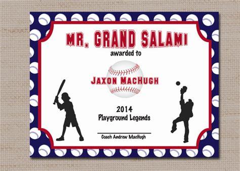 baseball award template baseball sports award certificate 8 5 x 11 printable by