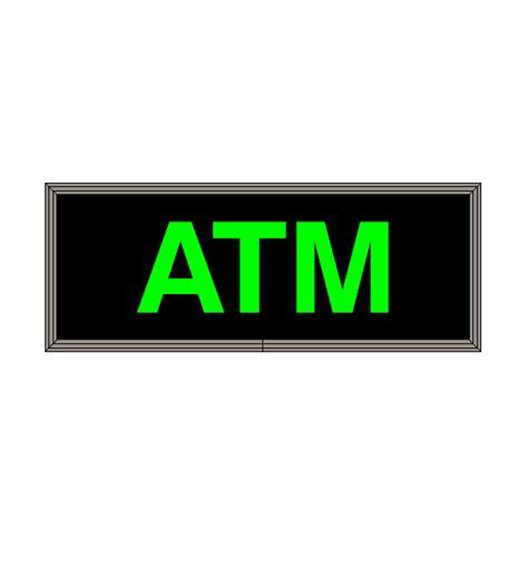 led backlit atm sign green led atm sign