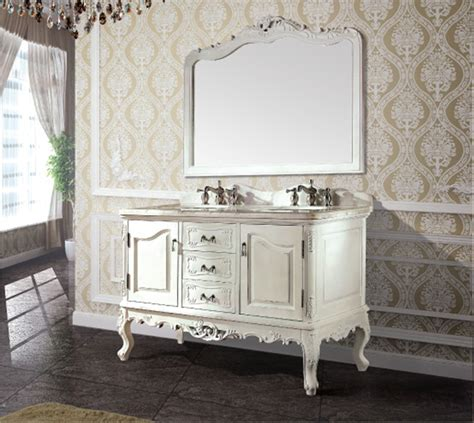High Quality Antique Bathroom Cabinet With Mirror And Sink Classic Bathroom Furniture
