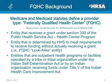 section 330 of the phs act ppt understanding federally qualified health centers and