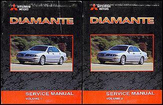 car repair manuals online free 2002 mitsubishi diamante electronic toll collection 2002 mitsubishi diamante original repair shop manual 2 vol set
