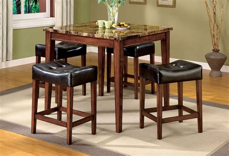 rockford iii transitional oak counter height dining