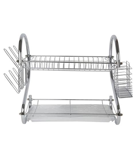 Stainless Steel Kitchen Rack Buy pindia silver stainless steel kitchen rack buy pindia