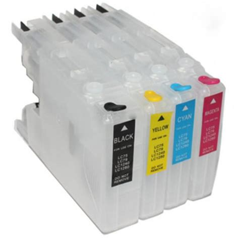 Empty Refill Cartridge Clear 10 lc75 empty refillable cartridges 4 pack