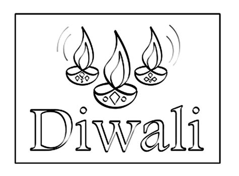 Diwali Diya Coloring Sheets Coloring Pages Diwali Coloring Pages