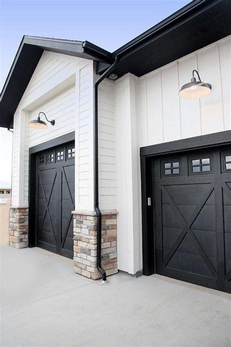 Black Garage Doors Best 25 Black Garage Doors Ideas On Paint Garage Doors Garage Exterior And Garage