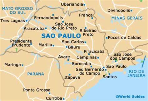 sao paulo on world map sao paulo orientation and maps sao paulo brazil
