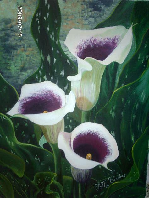 imagenes flores calas cuadros pinturas relieve flores tulipanes calas cuadro pic
