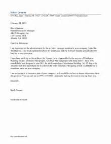 Cover Letter Architecture by Architect Manager Cover Letter Template Free Microsoft