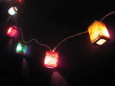 20 Multicoloured Battery Operated Mini Chinese Led String Paper Lantern Lights