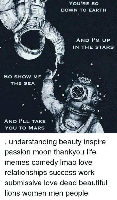 learned from a comedians take on dating working woman report so show me the sea and i ll take you to mars you re so