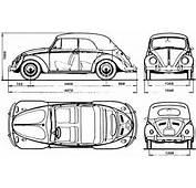 Volkswagen Beetle Blueprint  Download Free For